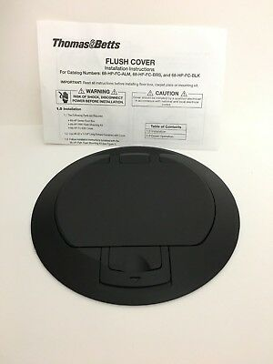 Thomas & Betts Steel City Fpt4-Cvr-Tblk  Alum Black Cover Powder Coat Finish