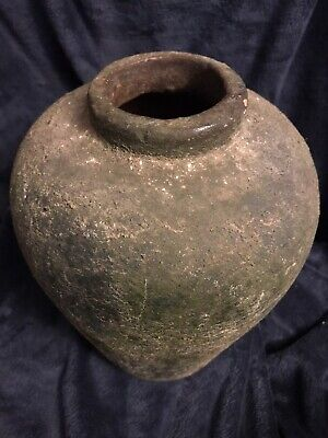 "Vtg Handcrafted Pottery Jar Ceramic Stoneware Vessel Vase Urn 10"" High 8.8 Lbs"
