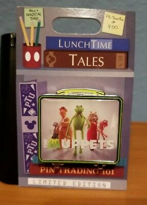 Disney Parks Pin of the Month Lunch Time Tales Muppets LE kermit frog, gonzo