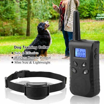 NEW  Waterproof LCD Electric Remote Dog Shock Bark Collar Trainer Training 500M