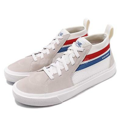 Skechers Champ Ultra White Blue Red Grey Men Casual Shoes Sneakers 18566-WHT