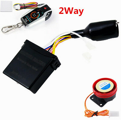 2Way Motorcycle Alarm Anti-theft Security System Vibration Remote Engine Start