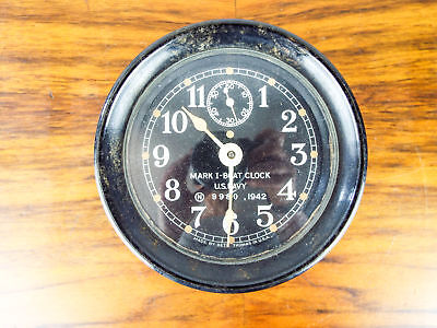 Vintage WW2 Seth Thomas Mark I Boat Clock Bakelite 1942 US Navy WWII No 9980