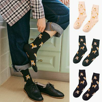 Casual Cute Socks Cartoon Women Cotton Socks Female Funny Corgi Dog Animal Socks