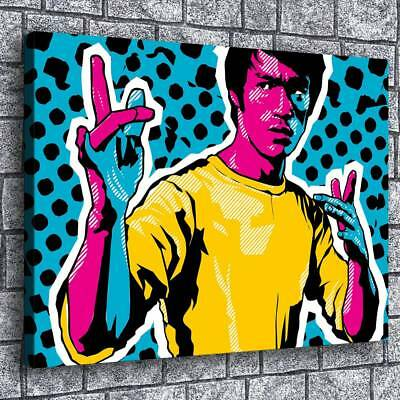"12""x16""Brucelee Poster HD Canvas Prints Painting Home Decor Wall Art Picture"