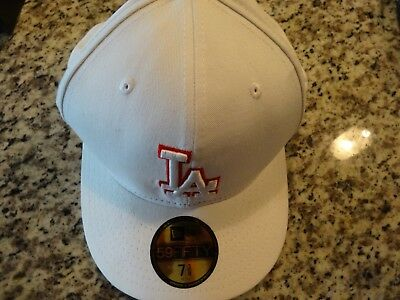 New Era 59Fifty Los Angeles LA Dodgers Game Fitted Hat (White) MLB Cap