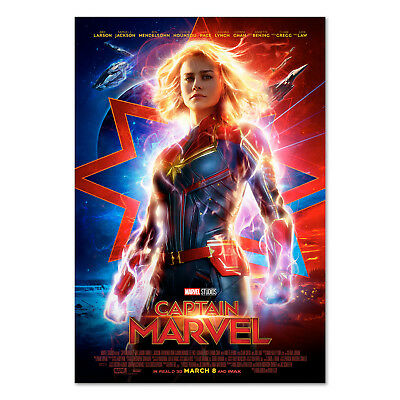 Captain Marvel Movie Poster - Official Art - 2019 Film - High Quality Prints