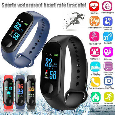 M3 Sport Fitness Activity Tracker Smart Wrist Band Pedometer Bracelet Watch NEW