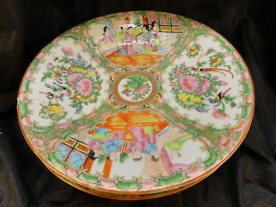 "1800's  China 12"" Platter / Vintage  Table  Lamp Lovely / Neko  Lucky  3  Cats"