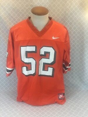 b70709f69 Vintage Nike University of Miami Hurricanes  52 Ray Lewis Football Jersey  Large