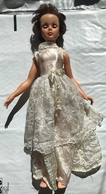 """Vintage Eegee Doll Co 15"""" With Wedding Dress And Other Clothes 1963"""