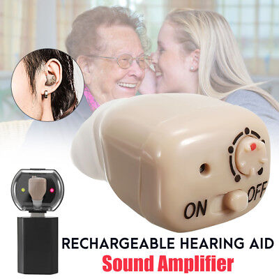 Small Digital In Ear Rechargeable Hearing Aid Adjustable Tone Sound Amplifier Wi