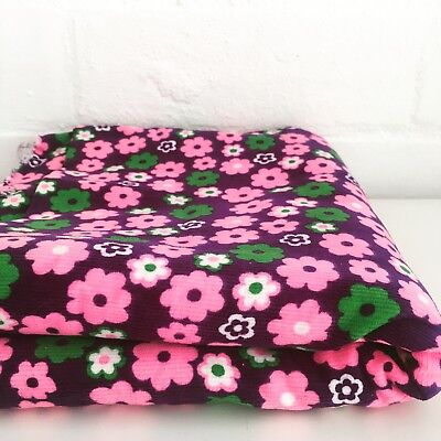 VINTAGE Floral FABRIC 70's FUN Craft Sewing Quilting