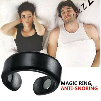 Anti Snore Ring Stopper Magnetic Therapy Stop Insomnia Sleep Acupressure Health