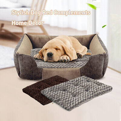 Large Dog Beds Fit for Crate Soft Warm Mat Washable Cosy Pads Cushion Pet Gifts