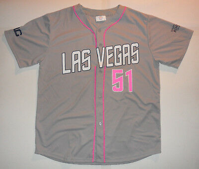 new style 620c4 d5133 NWOT LAS VEGAS 51s PINK Cure Cancer NEW YORK METS AAA Minor ...