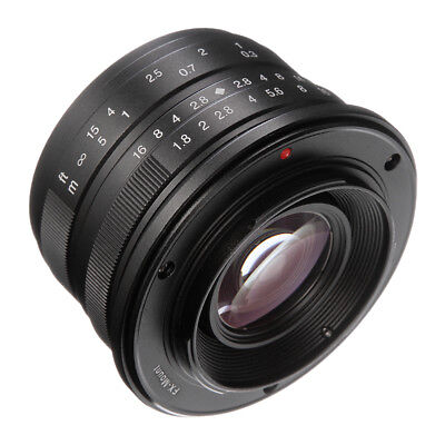7artisans 25mm F1.8 Manual Focus Prime Lens for Fujifilm FX Mount X-A1 T1 Camera