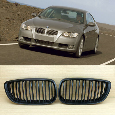 High ABS Matte Black Fit BMW 3-Series E92 Front Grille 2007-2010 M4 Look Coupe