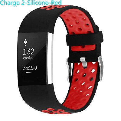 Replacement Silicone Wrist Sport Watch Bands Strap For Fitbit Charge 2 Wristband