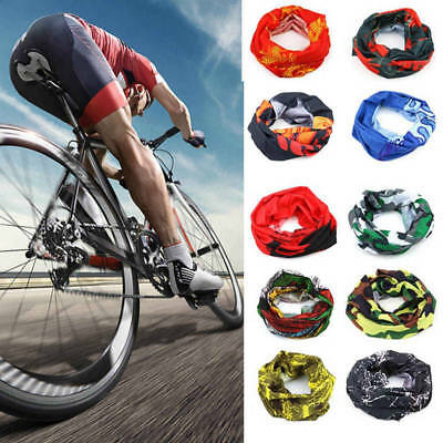 Multi use Biker Neck Tube Scarf Balaclava Snood Face Mask Warmer Cycling Bandana