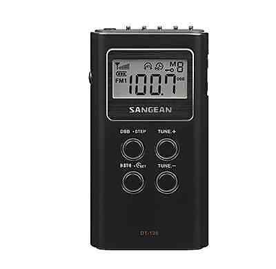 Sangean Dt120 Am/fm Pocket Radio With Digital Tuning (Black)