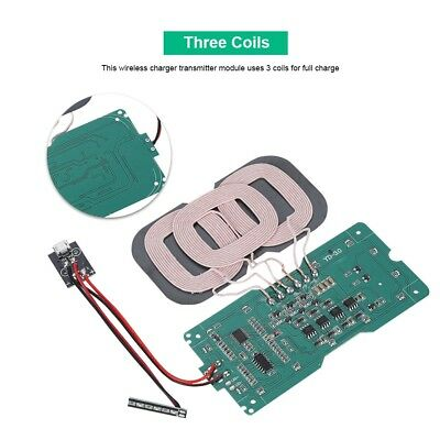 Qi Wireless Charger Transmitter Module 3 Coil Circuit Board Fast Charging DIY ST