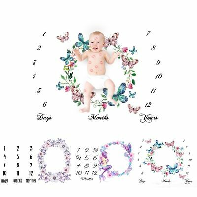 Wrap Mat Photography  Backdrop Baby Blanket Photo Props Number Printed