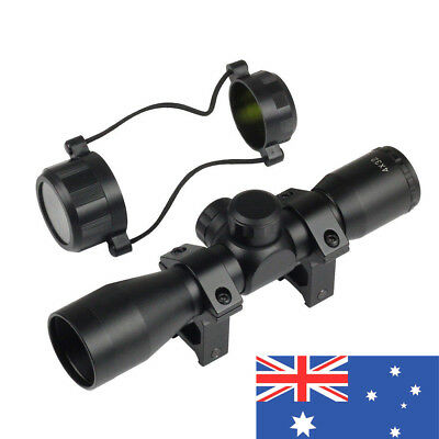 Tactical 4 x 32 Telescopic Sight Scope With 21mm Rail Mounts For Pistol Hunting