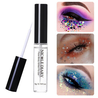 NICOLE DIARY 5g Face Body Glitter Fix Gel Adhesive Glue Makeup Cosmetic Tools