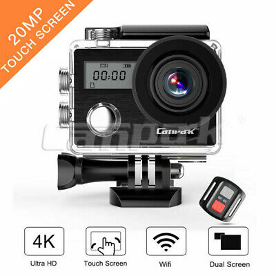 Campark Action Cam 4K 20MP Touchscreen WiFi Sports Camera Waterproof Camcorder