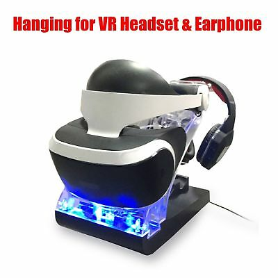 Charging Dock Display Stand For PS4 PSVR Playstation 4 VR Showcase Controller