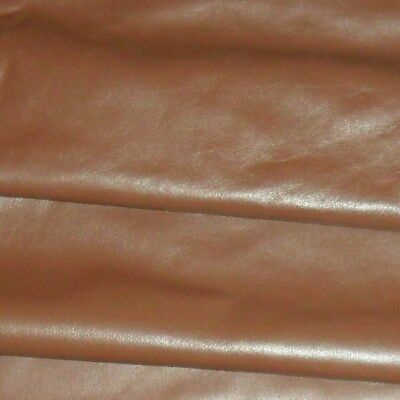 Genuine Brown Soft Cow Leather Hide / Skin  Various Sizes FREE UK SHIPPING