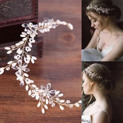 Bride Hair Band Faux Pearl Wedding Jewelry Headband Bridal Handmade Accessories