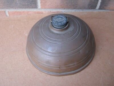 Copper hot water bottle English WAFAX warm bed collectable metalware social past