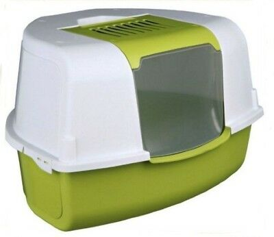 Extra Large Compact Corner Cat Kitten Enclosed Litter Tray Toilet Potty Loo Box