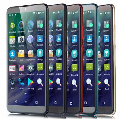 """New 6"""" Large Screen Unlocked Android7.0 Quad Core Dual SIM Mobile Smart Phone UK"""
