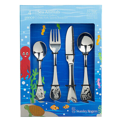 NEW Stanley Rogers Sea Animals Children's Cutlery Set 4pce