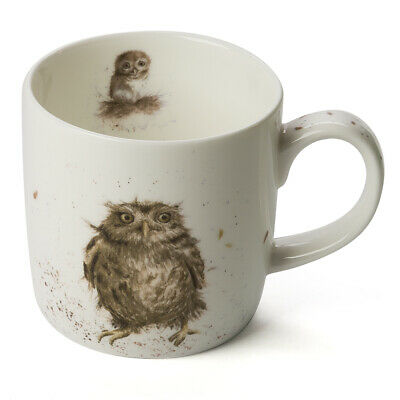 NEW Royal Worcester Wrendale Designs What A Hoot Owl Mug