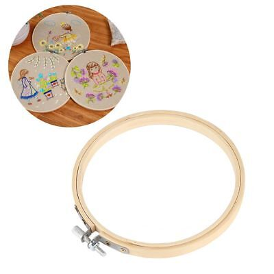 Diy Bamboo Handmade Sewing Tools Round Loop Cross Stitch Frame Embroidery Hoop