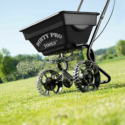 Professional Rotary Garden Spreader Large Lawn Fertiliser Grit Grass Seed