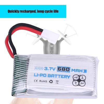 ENGPOW Rechargeable 3.7V 1S 680mAh 25C LiPo Battery for JJRC MJX Syma RC Drone