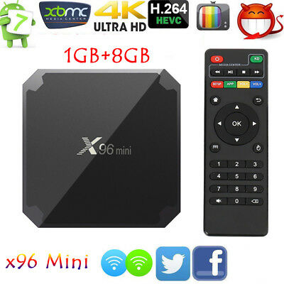 X96 mini Android 7.1 Smart TV Box 8GB S905W Quad Core WIFI 4K Media Player O5G1