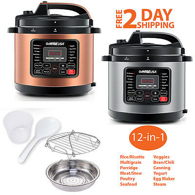 6 Qt 12-In-1 Muti-Use Electric Pressure Cooker Programmable Instapot Instant Pot