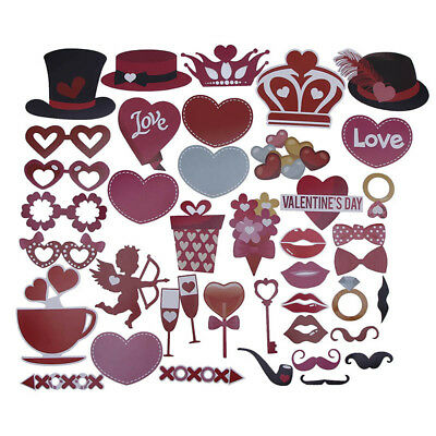 1 Set Photo Booth Props Valentine's Day Party Decor Party Lover DIY Funny Supply