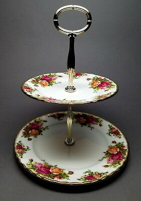Royal Albert - Old Country Roses 2 Tier Cake Stand.