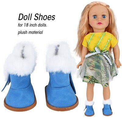 1 Pair Mini Shoes Plush Winter Snow Boots Dolls Accessories for 18 Inch Dolls
