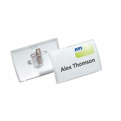 DURABLE Click Fold Polypropylene Combi Clip Name Badges with Inserts Pack of 25
