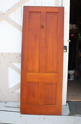 "31 7/8"" x 83 3/8"" x1 1/8"" Antique Interior Solid Wood 4 Panel Door"