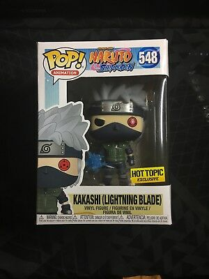 FUNKO POP! Naruto KAKASHI WITH LIGHTNING BLADE Hot Topic Exclusive IN HAND!