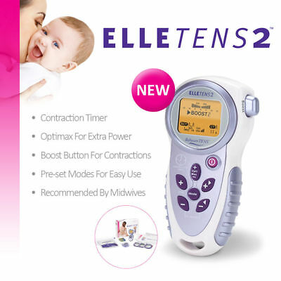 Elle TENS 2 - with Contraction Timer - Maternity TENS unit for labour & beyond